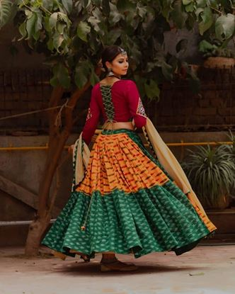 Picture of New Designer Navratri Special  Fully Stitched LEHENGA CHOLI
