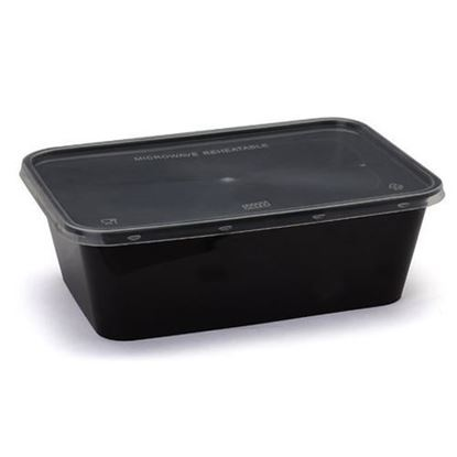 Picture of Plastic Food Storage Container With lid (Pack Of 10 Pcs)