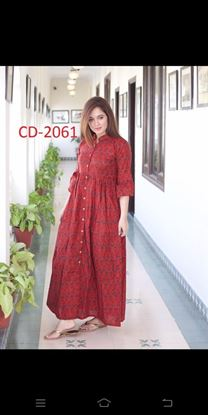 Picture of Mix Cotton with Digital Print Kurti
