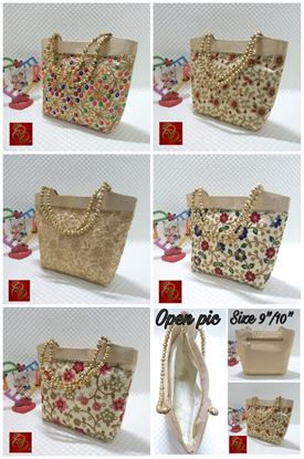 Picture of Colourful Embroidered  HandBag Navratri Special