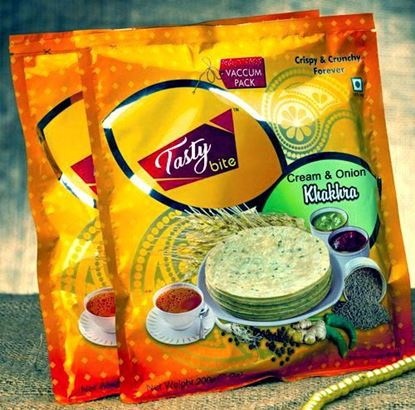 Picture of Tasty Cream & Onion Khakhra (Pack of 2)
