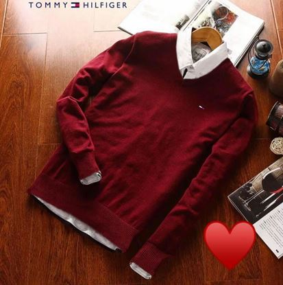 Picture of Brand- Tommy Hilfiger V Neck Pullover T- Shirts