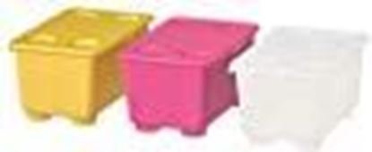 Picture of Ikea Box with Lid (17x10 cm, 3 Boxes Pink, White, Yellow)