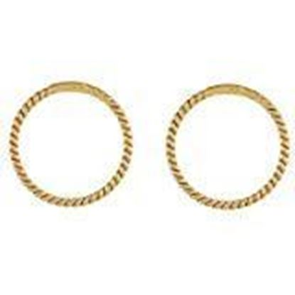 Picture of A-One Collection Golden 18K Gold Plated Bali Nose Ring for Women and Girls
