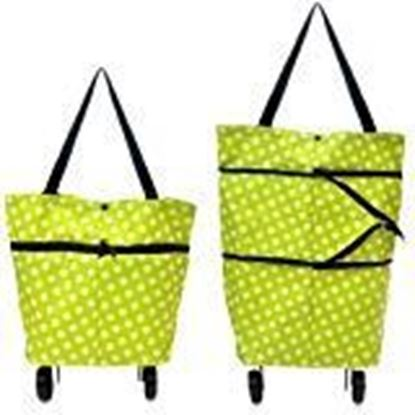 Picture of RUDRAYA™ Folding Shopping Bag Wheels, Utility Collapsible Grocery Bag Shopping Cart with Hand-Straps, Portable Dual-Use Trolley Bag (Multi Color)