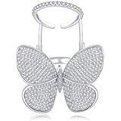 Picture of Ortif Flying Butterfly Ring Silver