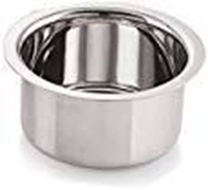 Picture of Neelam Stainless Steel 10 22G Flat Bottom Tope, 1100 ml, Silver
