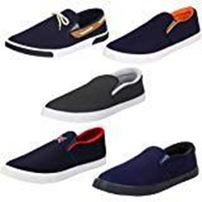 Picture of Earton Men Combo Pack of 5 Casual Loafer Shoe with Sneaker Shoe