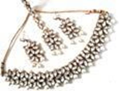Picture of Manath Bridal Gold Plated Kundan Neckless Set for Women and Girls