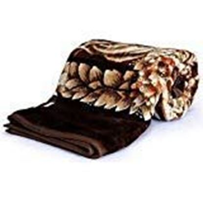 Picture of SquareShopKart Silky Soft Floral Double Bed Embossed Mink Blanket for Winters - Embossed Design That Will Enhance Your Room with Vibrant Attractive