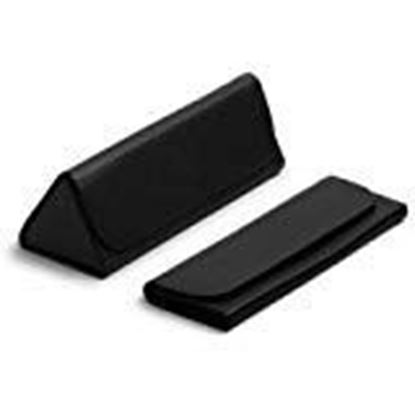 Picture of VisionsIndia Unisex leather TriFold Grey Eyewear Case For Sunglasses & Frames