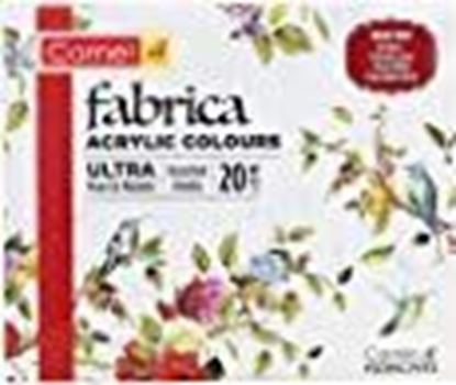 Picture of Camel Fabrica Acrylic Ultra Pearl and Metallic Colour Set - Pack of 20 (White)